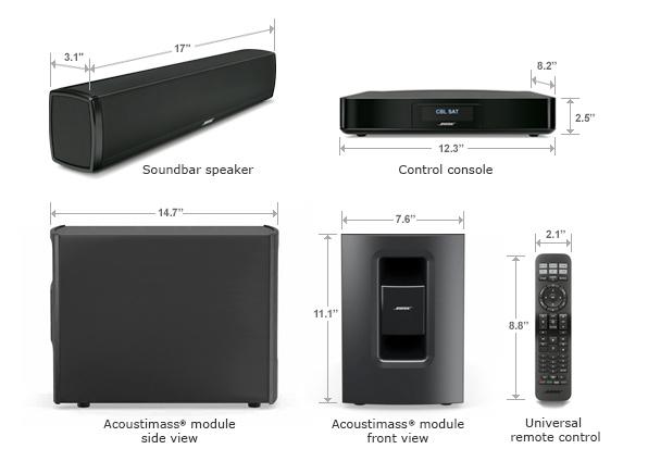 Bose 174 Cinemate 174 120 Digital Home Theater Speaker System